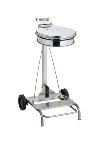 T601046 AISI 304 Stainless steel Wheeled pedal operated sack holder