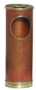 T700101 Burnt copper ash bin with brass rims 16 liters