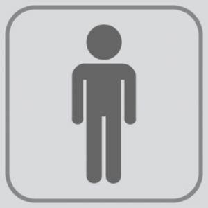 T701021 PVC sticker Pictogram Man (multiple of 5 pcs)