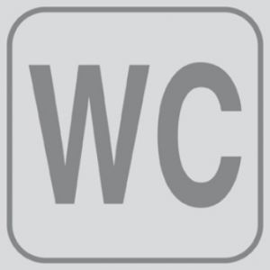 T701023  PVC sticker WC (multiple of 5 pcs)