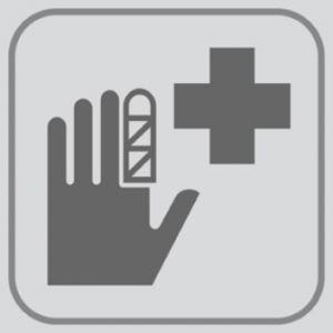 T701028 PVC sticker Infermery pictogram (multiple of 5 pcs)