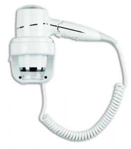 T704005 Folding hair dryer with wall bracket