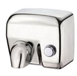 T704176 Asciugamani elettrico a pulsante acciaio inox AISI 304 brillante