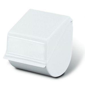 T710010 Porta rotolo carta igienica chiuso in plastica bianco