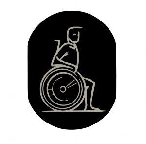 T719914 Wheelchair pictogram bathroom Black aluminium