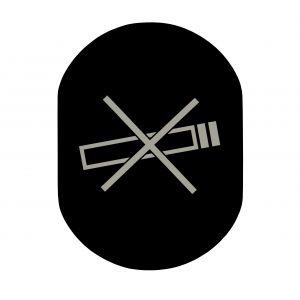 T719917 No smoking pictogram Black aluminium