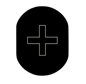 T719918 Infirmery pictogram Black aluminium