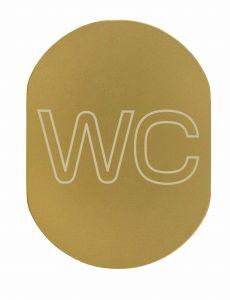 T719933 WC sign toilet in Golden aluminium