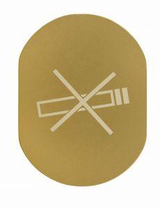 T719937 No smoking pictogram Golden aluminium
