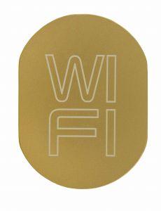 T719939 WI FI pictogram Golden aluminium