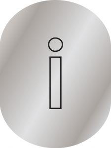 T719950 Brushed aluminium Information pictogram