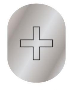 T719958 Infermery pictogram Brushed aluminium