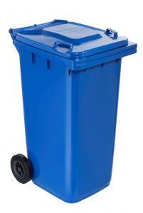 T766622 Contenitore rifiuti da esterno 2 ruote 240 litri BLU