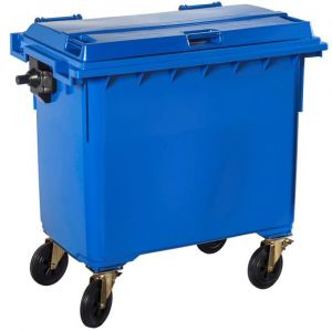 T766652 Contenitore rifiuti da esterno 4 ruote 770 litri BLU