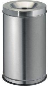 T770030 Gettacarte antifuoco acciaio inox satinato 30 litri