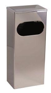 T773011 Gettacarte bagno apertura frontale acciaio inox AISI 430 25 litri
