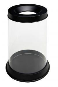 T774041 Transparent fireproof waste bin 110 liters