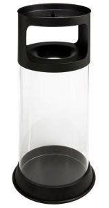 T774091 Portacenere-gettacarte antifuoco trasparente 80 litri
