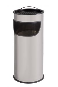 T775012 Grey steel Ashbin 25 liters with sand