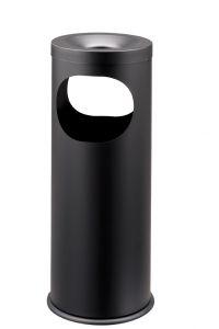 T775021 Black steel Ashbin 2 openings 19 liters