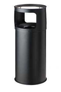 T775051 Portacenere-gettacarte Antifuoco metallo nero 50 litri con sabbia