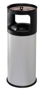 T775052 Portacenere-gettacarte Antifuoco metallo grigio 50 litri con sabbia