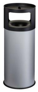 T775092 Fireproof ashbin Grey steel 90 liters with sand