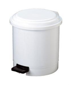 T906103 White Plastic pedal bin 3 liters