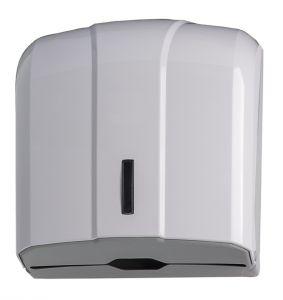 T908021 Distributore di carta asciugamani 300 fogli universale ABS bianco
