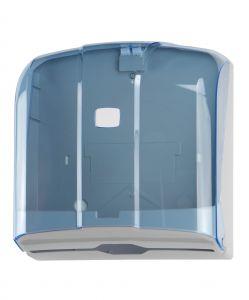 T908120 Distributore di carta asciugamani 300 fogli C-Z in ABS blu