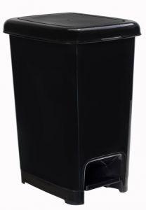 T909810 Pattumiera a pedale polipropilene nero 10 litri (multipli 18 pz)