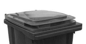 T910250 Gray lid for waste container 240 liters