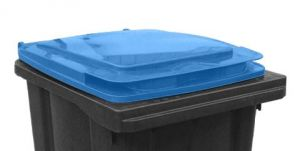 T910252  Blue lid for waste container 240 liters