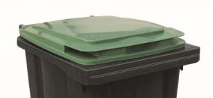 T910253 Green lid for waste container 240 liters