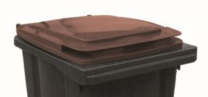 T910254 Brown lid for waste container 240 liters