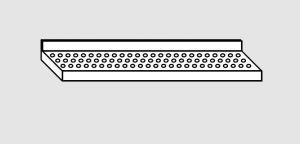 EU63801-18 ripiano a parete forato ECO cm 180x28x4h