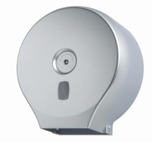 T104401 Toilet paper dispenser in ABS silver roll 200 meters