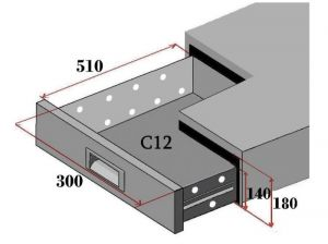 C12-FC Set of 2 drawers for refrigerated counters