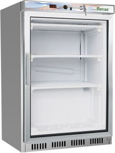 G- EF200GSS Static refrigerated cabinet frame - Capacity 130 Lt - glass door