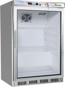 G- ER200GSS Refrigerated cabinet 1 glass door - Capacity 130 Lt - Stainless steel frame