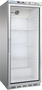 G- ER600GSS Refrigerated cabinet 1 glass door - Capacity 570 Lt - Stainless steel frame