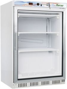 G-EF200G ECO static refrigerated cabinet, capacity 130 Lt - white color