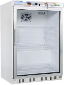 G-ER200G Static refrigerated cabinet ECO glass door, 130Lt capacity - Digital display