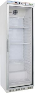 G-ER400G Single ECO glass door static refrigerated cabinet - Capacity 340 Lt