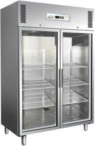 G-GN1410TNG Refrigerated showcase, double door. Ventilated refrigeration