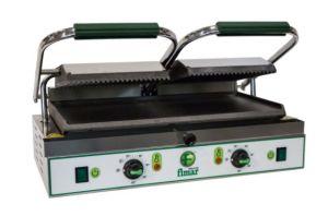 PE50LNT Piastra cottura in ghisa doppia liscia/rigata trifase 3400W