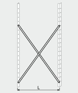 EU77009-14 crocera per scaffale ECO da cm 140