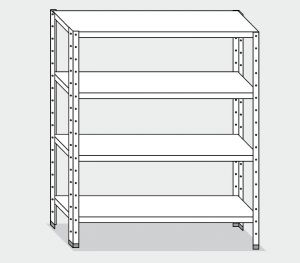 EU77365-10 scaffale con 4 ripiani lisci ECO cm 100x50x200h
