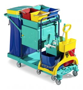 0B003530 Carrello Green 530 - Montanti Blu